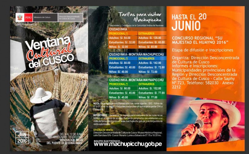Cultural Window of Cusco June 2016