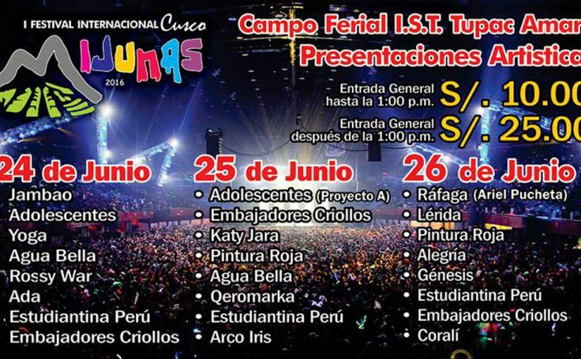 I International Festival Mijunas Cusco 2016